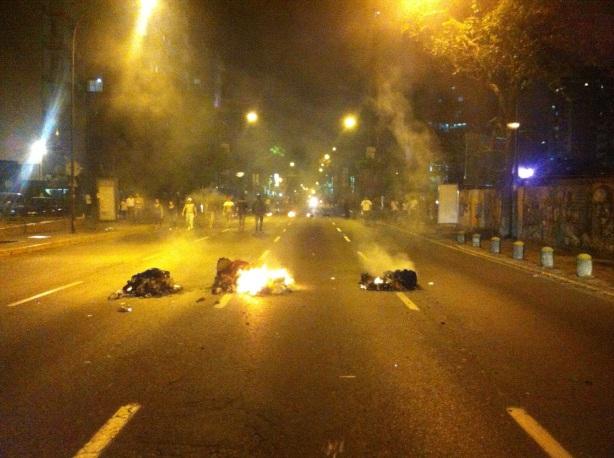 Conato de disturbio en calles de Caracas.